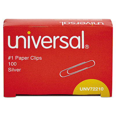 Paper Clips Smooth Finish No. 1 Silver 100box - X 10 Boxes 1000 Total