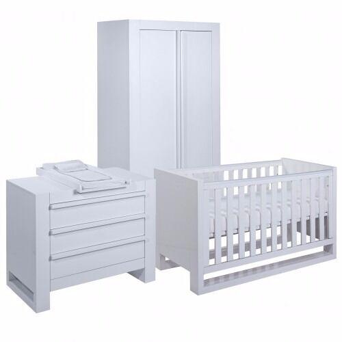 Beautiful 3 piece Nursery Set - High Gloss White