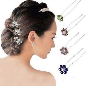 10pcs-Bridal-Jewelry-Clear-Crystal-Rhinestone-Hair-Accessory-Hair-Pins