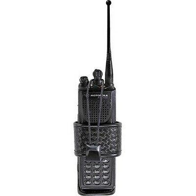 Bianchi Black 7323 Basketweave Accumold Elite Group 2 Adjustable Radio Holder