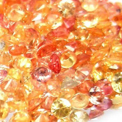 10pcs ROUND 2.3-2.7mm  FLAWLESS SONGEA AAA RED PINK & YELLOW NATURAL SAPPHIRE