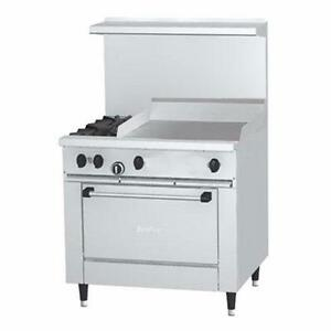 "Garland 36"" Restaurant Range w/ 2 Burners, 24"" Griddle and 1 Oven"