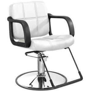 White Hydraulic Barber Chair Styling Salon Beauty Equipment - BRAND NEW - FREE SHIPPING