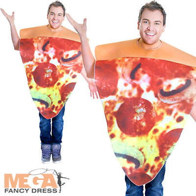 Pizza Slice Adult Fancy Dress Fun Food Adults Womens Mens Ladies Costume Outfit