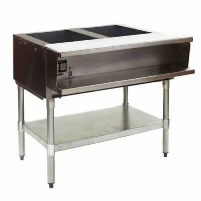 Eagle Group Awt2-ng 33 Inch 2-well Water Bath Gas Steam Table