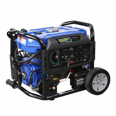Quipall 5,250 Watt Dual Kindling Gas Portable Generator w/ Electric Start, New