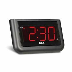 RCA Digital Alarm Clock - Large 1.4 LED Display with Brightness Control and ...