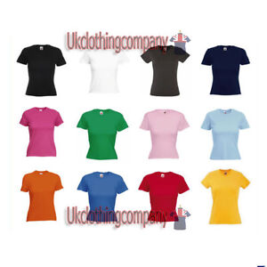 Fruit-of-the-Loom-Lady-Fit-T-Cotton-t-shirt-short-sleeve-top-S-M-L-XL-2XL