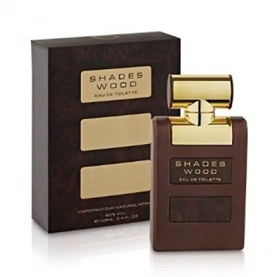 Shades Wood by ARMAF 3.4oz/100ml Eau De Toilette Spray Men NEW IN SEALED (Shades Wood)
