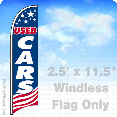USED CARS - Windless Swooper Feather Flag 2.5x11.5