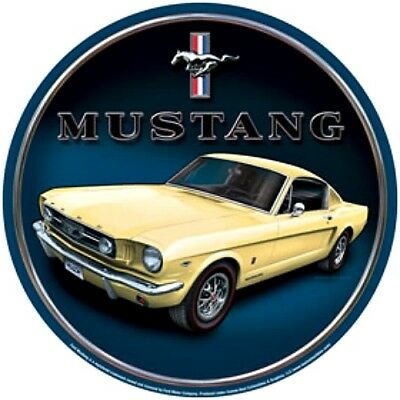Muscle Car Decor (Ford Mustang Yellow Muscle Car 12