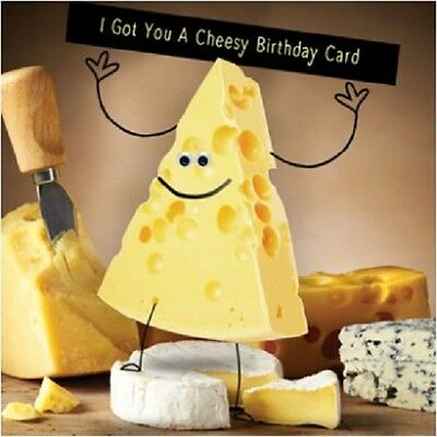 Funny humour Greeting Card Happy Birthday 3d moving eyes cheese cheesy