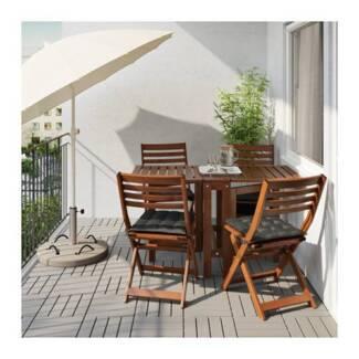 Beach umbrella outdoor kit mats cushions sun lounger set IKEA