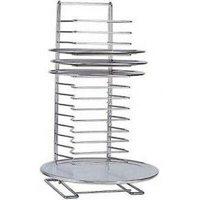 American Metalcraft 19029 Chrome-plated Steel Pizza Rack 15 Slots Silver