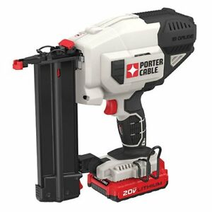 PORTER CABLE 18GA CORDLESS NAILER WITH BATTERY AND CHARGER. NEW