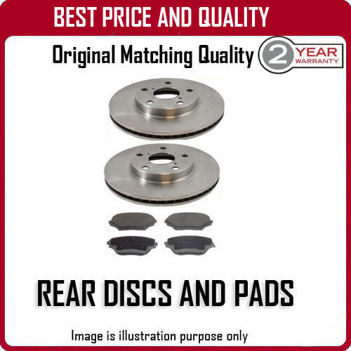 REAR DISCS AND PADS FOR LEXUS GS250 2.5 6/2012-