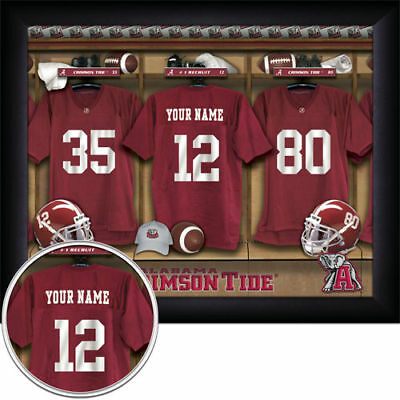 Personalized Framed College Football Locker Room Prints