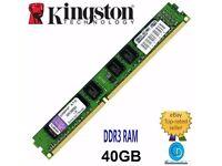 RAM-JOB LOT 40 GB- 10 X 4 GB STICKS DDR 3.12800U KINGSTON KVT8FP-HYC 1600MHz