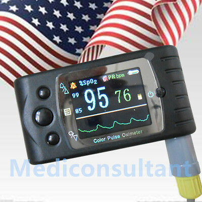 Us Stock Contec Cms60c Blood Oxygen Spo2 Monitor Pulse Oximeter Adult Probesw