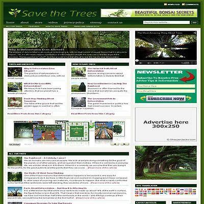 Established Trees Garden Affiliate Website Turnkey Business Free Hosting