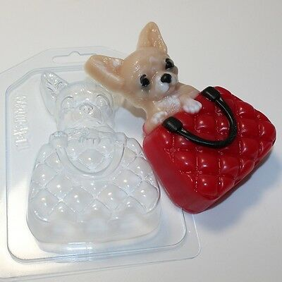 """Chihuahua"" dog plastic soap mold soap making mold mould"