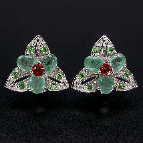 Colombian Emerald Earrings Ebay