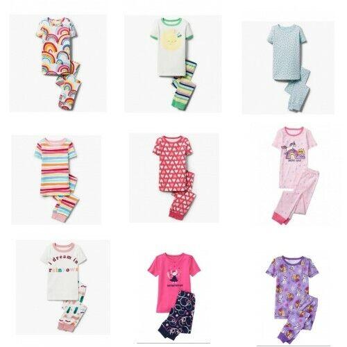 NWT Gymboree Girl 2pc Pajama Set Short Sleeve Top and Pants Size 4 - 14