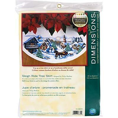 Dimensions Needlecrafts Counted Cross Stitch, Sleigh Ride Tr