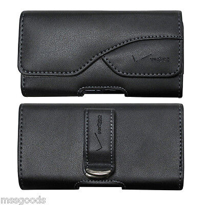 Genuine VERIZON Smartphone Leather Pouch with Swivel Belt Clip Fits Iphone 6/7/8 (Genuine Leather Swivel Pouch)