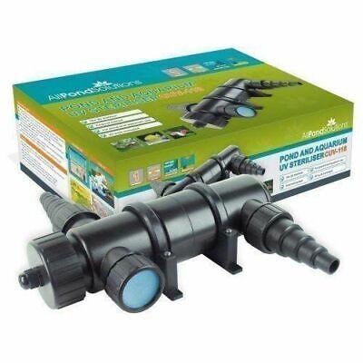 All Pond Solutions UV Light Steriliser Clarifier Filter 18 W High Quality New