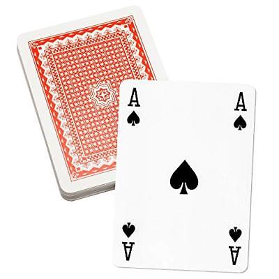 8 Inch x 11 Inch Super Jumbo Playing Cards. Giant Game Playing Card Deck - Giant Cards