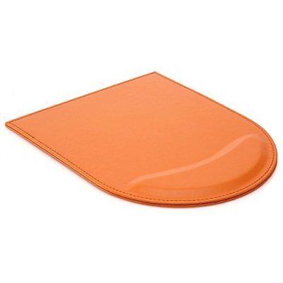 KINGFOM Tappetino per Mouse con Poggiapolsi in Pelle, arancione (z2p)