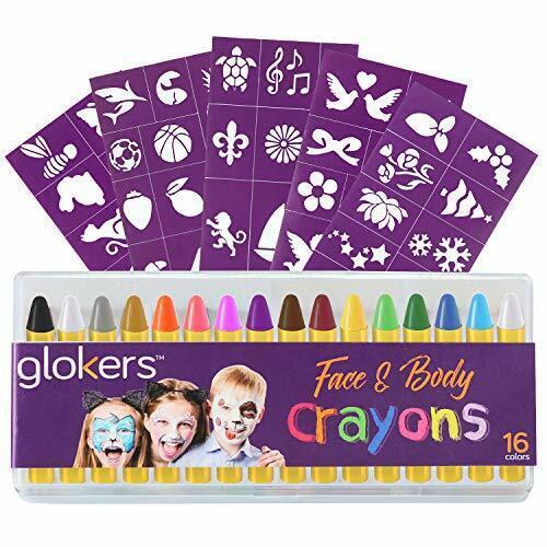 16 Colors Face & Body Paint Washable Sweat Proof Halloween Makeup Kit