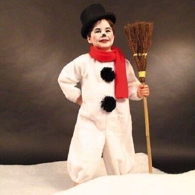 Kostüm Schneemann Kinder Schneemannkostüm Frosty Plüschoverall Fasching Karneval ()