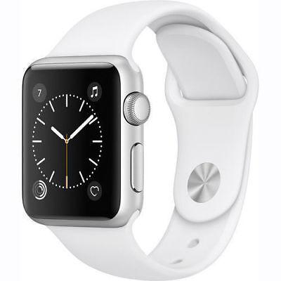 NEW Apple Watch Series 2 42mm Silver Aluminum Case White Sport Band MNPJ2LL/A