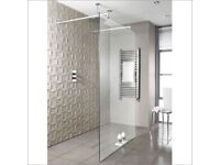 BRAND NEW BathStore Walk-in glass shower screen with fittings (RRP £469) SELLING FOR £250