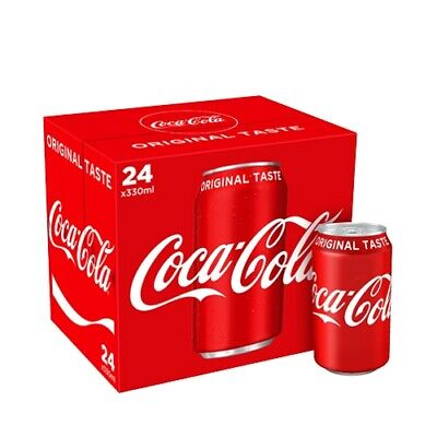 Coca-Cola Coke 330ml Pack of 24 Cans - Bulk Buy - Fast 24 hour Courier Service