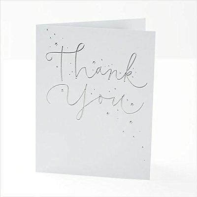 Pack of 10 Foil Finished Thank You Cards by Carlton Cards