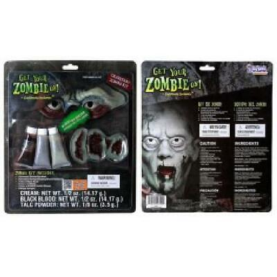 Toxic Zombie Make Up Kit Halloween Accessory Costume For - Making Halloween Costumes For Adults