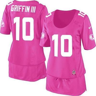 Pink Breast Cancer Awareness Nike Washington Redskins Football Jersey Women's XL - Pink Footballs