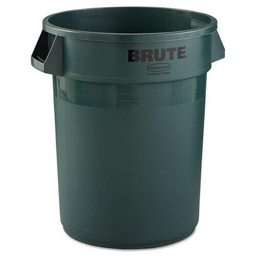 Rubbermaid 32 Gal. Round Brute Container (Dark Green) 2632DGR New