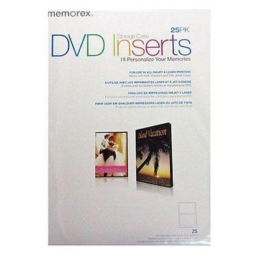 Memorex Dvd Case Inserts 25 Pack White Matte