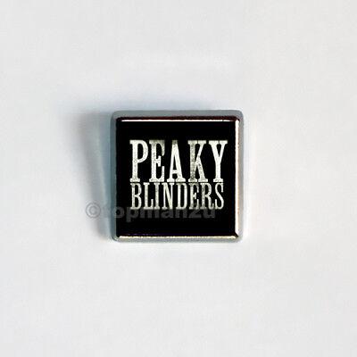 New, Quality Square Metal Pin Badge - Peaky Blinders - Retro. Free UK  P&P