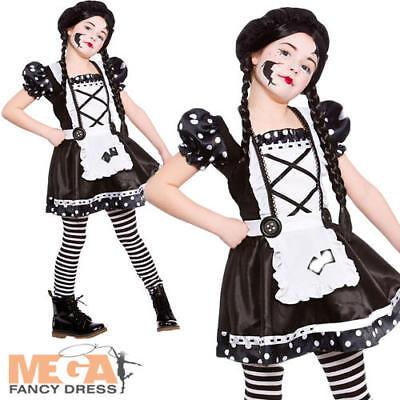 Broken Doll Girl's Fancy Dress Halloween Zombie Ragdoll Kids Childs Costume 5-13 - Broken Doll Dress