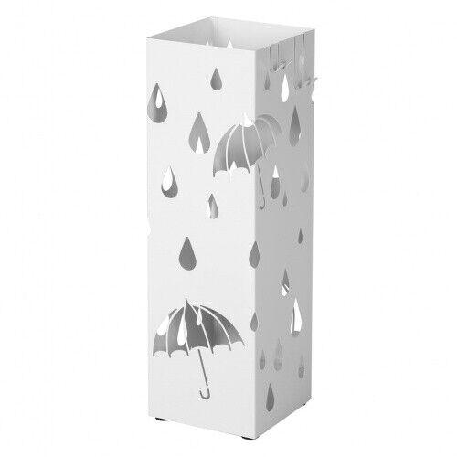 Schirmständer Regenschirmständer Metall Industrial Loft Weiß Haken Regenauffangs