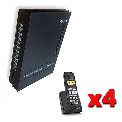 Centralino telefonico analogico 3/8 linee + 4 telefoni cordless manuale italiano