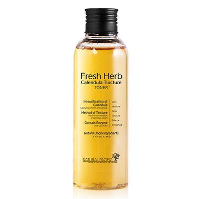 NATURAL PACIFIC Fresh Herb Calendula Tincture Toner 200ml Anti Wrinkle Antiaging