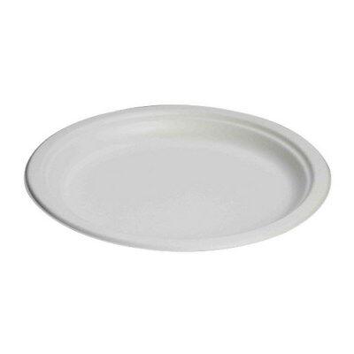 Genpak Harvest Fiber Round Snack Plate Natural White 1.25 Dia 500case