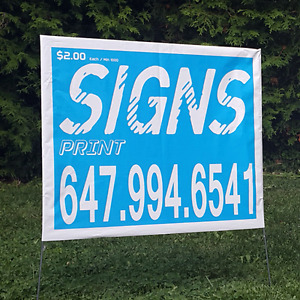 200 bag signs, lawn signs,full color Coroplast(NO HIDDEN CHARGE)