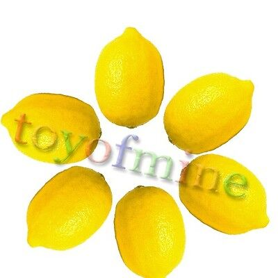 6 Pcs Lemon Artificial Fruit Fake Theater ...